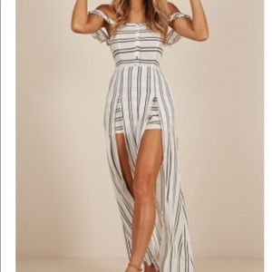 Show pow thinking about you maxi playsuit L